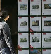 house prices lower